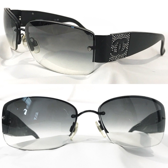 60c6462c7701 CHANEL Accessories - CHANEL Authentic Sunglasses Rhinestone CC Crystal